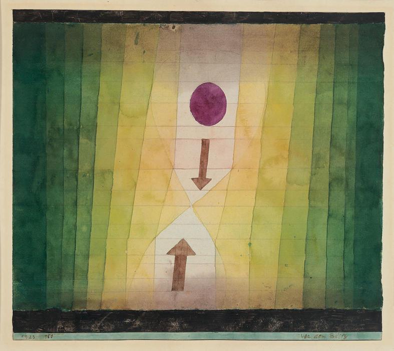 Paul Klee, Before the Blitz, 1923, gouache